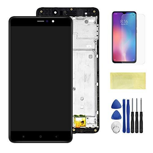 Pantallas LCD para teléfonos móviles 5.7 '' Digitalizador de Panel táctil de Pantalla LCD de Pantalla LCD con Marco/Ajuste para Xiaomi 5S Plus MI 5S Plus MI5S Plus (Color : Black with Frame)