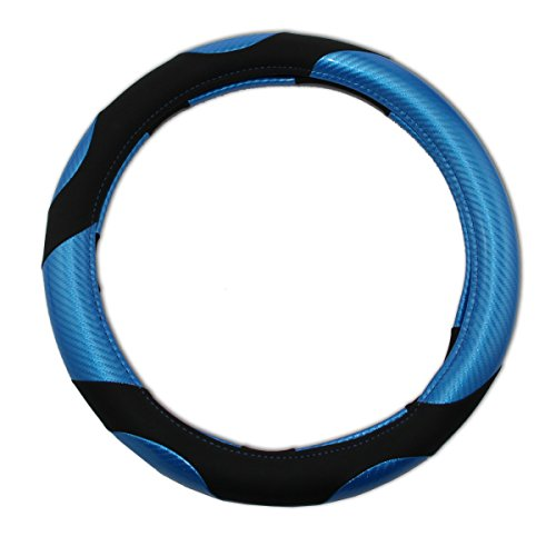 beishuo quatre saisons Assemblée en cuir PU + PVC pour volant de voiture, taille : S (36.5 cm)
