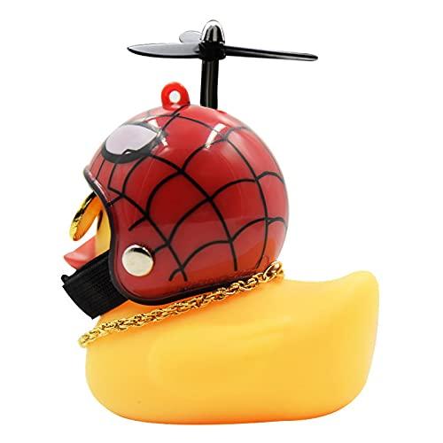 Patito Decoración de adornos de coche Pato con cadena de casco Equipo...