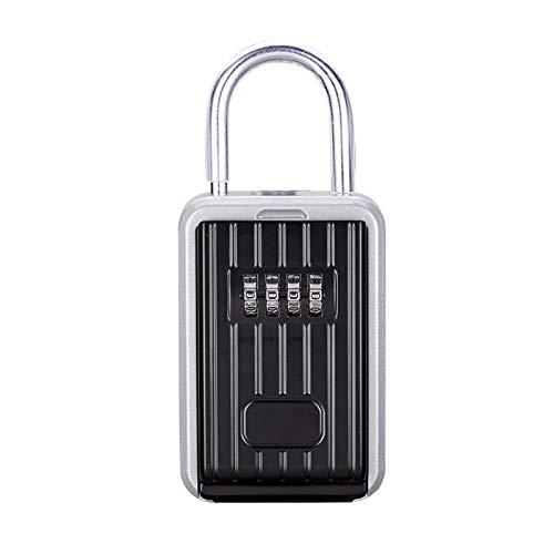 Sichere Schlüsselbox mit staubdichter Abdeckung Keine Installation eines 4-stelligen kombinierten Passworts erforderlich Externe Schlüsselaufbewahrungsbox Vorhängeschlossbox mit Schlüssel
