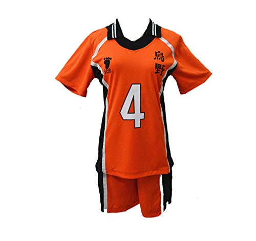 Teenager Jungen Mädchen Haikyuu Cosplay Kostüm, Unisex Karasuno Koukou High School Volleyball Club Sportswear Shirt Trikots Kinder
