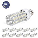 10 x Bombilla LED Estándar E27, ATCD Bombilla LED 4U, Bombillas Luz,16W Equivalente a 120 W, Luz Blanca Fría 5000K, 1440 Lúmenes [Clase de Eficiencia Energética A]