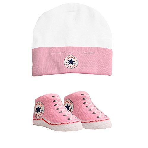 Converse Babymütze und Socken, Alter: 0-6 Monate, Rosa - rose - Größe: 0 - 6 Months