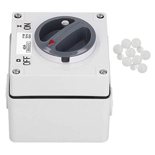 Indicadores de botones confiables, Enchufe de interruptor impermeable para exteriores, Interruptor impermeable a prueba de polvo, para oficina en casa (3P40A)