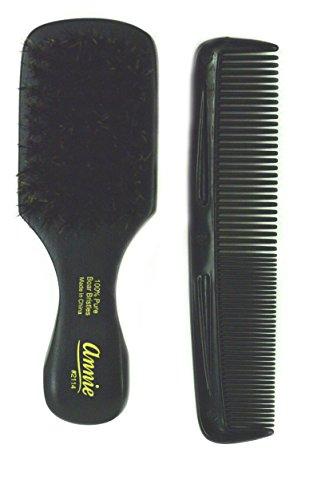 Annie mini pocket small manclub combo brush #2114 - SOFT-, soft bristles, natural bristles, boar bristles, hair comb, hair brush, long hair, short hair,