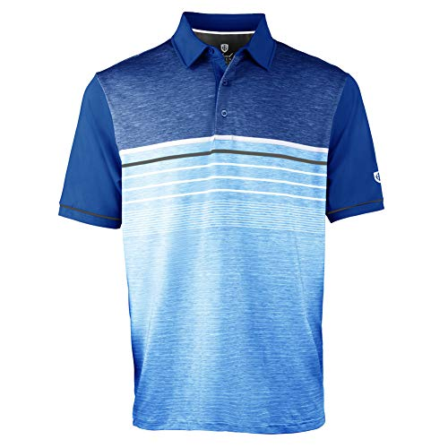 Island Green IGTS2041 Mens Golf Sublimated Wicking Breathable Polo Shirt Top Marine Large