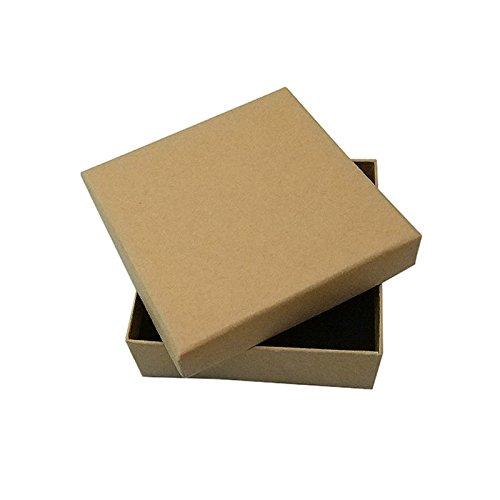 TOOGOO 16 piezas de Joyero de carton de kraft, 9 * 9 * 3cm