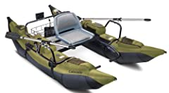 "Colorado assembled size 108""L x 56""W x 26""H (to top of seat), Weight: 71.5lbs. Two-year limited warranty Heavy-duty pontoon boat with abrasion-resistant PVC bottom, tough nylon top, powder-coated steel tube frame, bronze oarlocks, cold and heat-resis..."