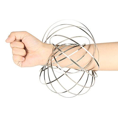 Zerodis Magic Flow Ringe Edelstahl Interactive Kinetic Armband Spielzeug Geschenke für Kinder und Erwachsene Antistress