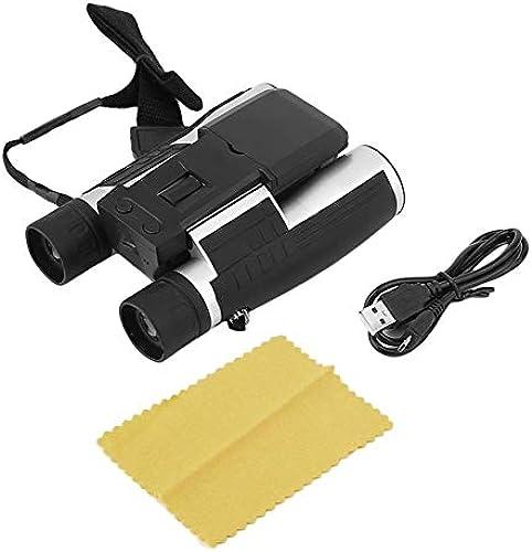 Vcbbvghjghkhj-UK Jumelles de Jumelles Noires HD 12x32 Se Pliant avec Appareil Photo numérique intégré - Télescope Se Pliant (Appareil Photo numérique intégré)