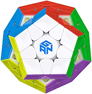 GAN Megaminx Cube 3×3 Speed Cube Gans Megaminx M Stickerless 3by3 Speed Cube Magnet Puzzle Toy Pentagonal Dodecahedron Con...