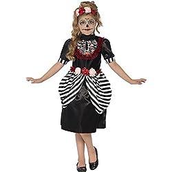 """Ofertas Tienda de maquillaje: Incluye Disfraz de dulce calavera, Negro y blanco, con vestido y diadema de rosas Edad 10-12, cintura 25.5-26.5"""" / tórax 30-31.5"""" / altura 58-63"""" Todos los trajes para niños son probados para EN71 y Nightwear (seguridad) estándares; esto es para asse..."""