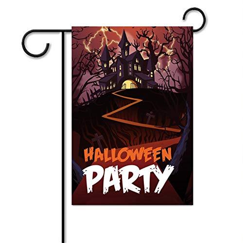 Wood.L Halloween-Gartenhaus Rustikal-Flagge,...
