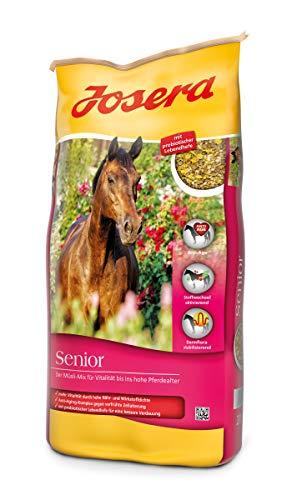 JOSERA Senior (1 x 20 kg) | Premium Pferdefutter mit Anti-Aging-Komplex | haferfrei | Müsli für ältere Pferde | 1er Pack