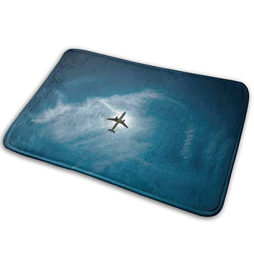 Flimy Na Mar ala Nube Cielo Atmósfera Avión Aeronave Vuelo Azul Atmósfera de Tierra Felpudos Puerta Alfombra Alfombrilla Alfombrillas
