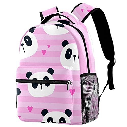 Leisure Campus - Mochilas de viaje, pandas y bolsas de cielo nocturno con soporte para botellas para niñas y niños
