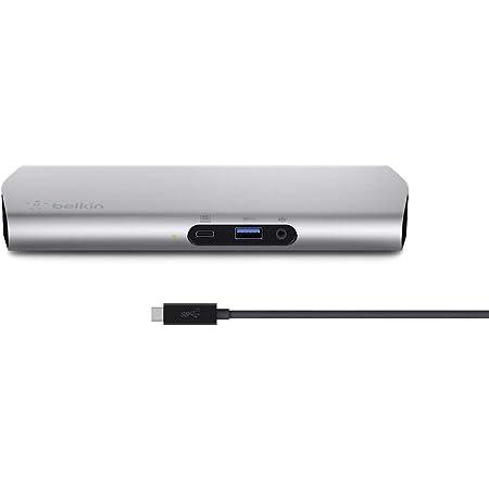Belkin ドッキングステーション ハブ USB-C iPad Pro MacBook Pro 2020 Surface対応 60w給電 ケーブル1m Express Dock HD F4U093JA-A
