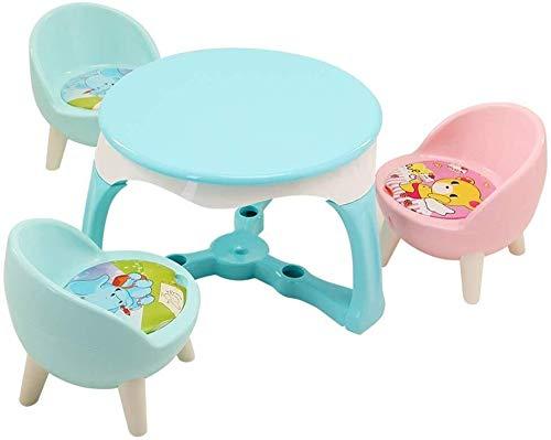 Kinder Schreibtisch Kinderhocker Kindertische Stühle Tisch for Kinder 1-5 Jahre Aktivität Tisch Stuhl Studie Baby-Zeichnung Säuglingsspiel Kindersitz (Color : B)