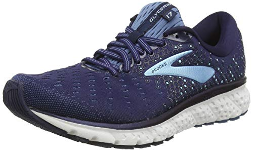Brooks Damen Glycerin 17 Running Shoe, Blau (Navy/Stellar/Blue), 40.5 EU