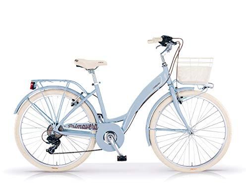 MBM Primavera Mono 28 all 6V, Bici Unisex Adulto, Azzurro A25, XX
