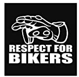 MDGCYDR Autoaufkleber 5X19.7Cm Respekt Für Biker Reflektierende Warnzeichen Lustige Auto Aufkleber...
