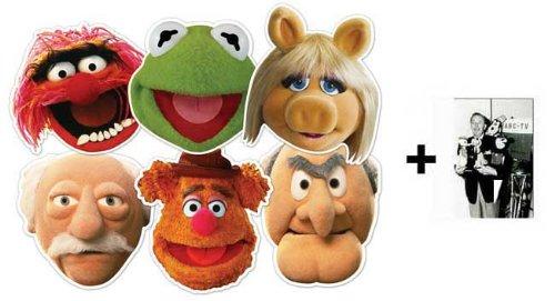 BundleZ-4-FanZ Fan Packs The Muppets Card Karte / Pappe Partei Maske Packung von 6 (Kermit, Miss Piggy, Animal, Statler, Waldorf und Fozzie Bear)