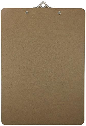 Letter Size Clipboard Standard Clip 9'' x 12.5'' Hardboard (Pack of 3)
