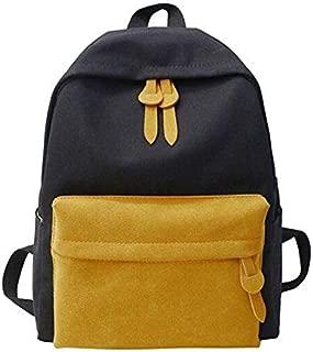 Unisex Canvas Bag Fashion Wild Harajuku Style Student Bag Travel Backpack XFGBTJKYAUu (Color : Yellow)