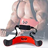 W WAISFIT Arm Blaster Bicep Curl Thick Aluminum Adjustable Bodybuilding Bicep Isolator Red
