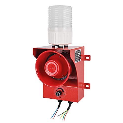 YJINGRUI Sirena Alarma de Control Señal con Estroboscópica Luz 120dB Alarma Sonido y Luz Sistema de Seguridad a prueba de Lluvia y Polvo (tres luces(rojo/amarillo/verde), 220V)