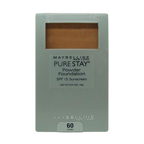 Maybelline Purestay Powder Foundation SPF 15 Sunscreen, Golden 60 .34 oz (9.6 g)