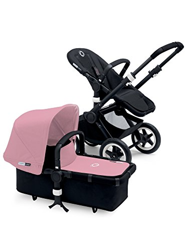 Great Features Of Bugaboo Buffalo Black Frame Stroller (Soft Pink)