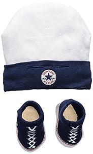 Converse Hat and Bootie Conjunto de Ropa, Multicolor (Navy), 0/6 Meses (Talla del Fabricante: 0-6M) para Bebés
