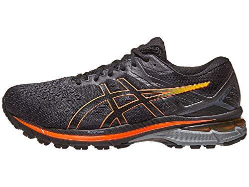 ASICS Men's GT-2000 9 G-TX Running Shoes, 10.5, Black/Marigold Orange