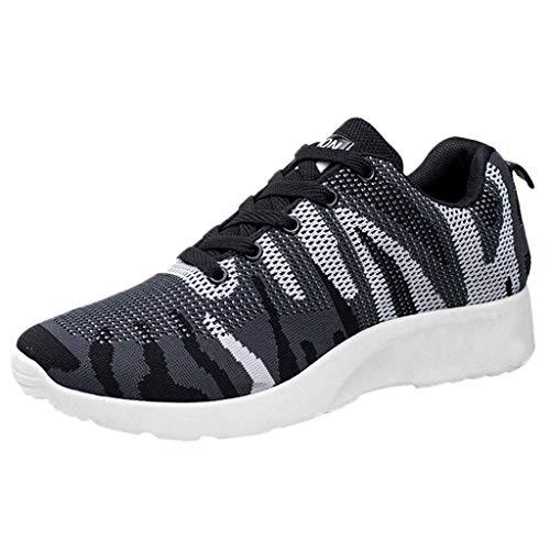 Chaussures de Sport Homme Pas Cher,Alaso Hommes Antidérapant Respirantes Maille Baskets Semelles Souple Sneakers Chaussure de Sécurité