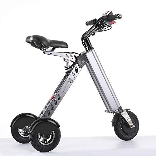 TopMate Minivehículo Eléctrico, Scooter y Triciclos Eléctricos Modernos y Inteligentes, y Bicicleta Eléctrica Plegable y Portátil (ES30-Grigio)