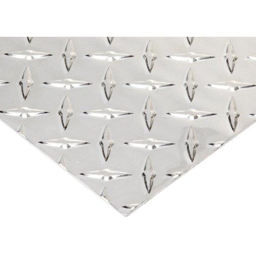 RMP 3003 H22 Aluminum Diamond Tread Sheet, 12 Inch x 36 Inch x 0.125 Inch Thickness, Bright Finish