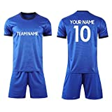 Custom Personalized Your Soccer Jerseys & Shorts,Custom Any Name Number Team Sports Training Uniforms (Adult XL, Royal Blue)