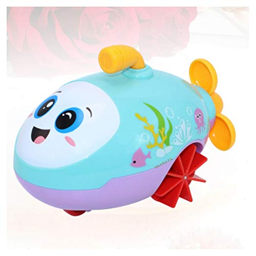 Shanaya Baby Bathtub Swimming Wind Up Pull String Cartoon Floating Bath Animal Toys for Kids Toddlers, Child Pool, Swimming Clockwork Water Toys for Boys and Girls (Submarine)