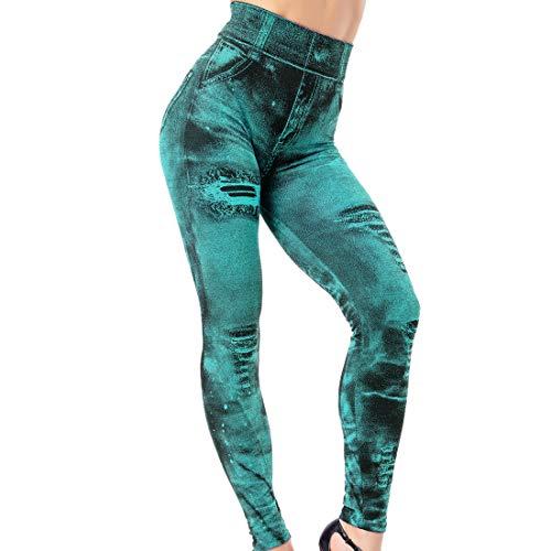 Pantaloni da Yoga da Donna Jeans Pantaloni Skinny Stretch Denim Slim Fit Moda Leggings Leggings Sportivi Fitness Eleganti Retro Streetwear Fitness Running Capri Yoga Training Pantaloni Sportivi XXL