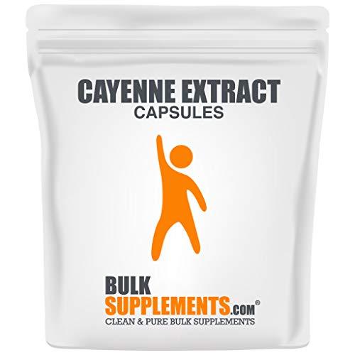 BulkSupplements.com Cayenne Extract - Cayenne Pepper Capsules - Cayenne Pepper Pills - Capsaicin Supplements - Pure Capsaicin (100 Gelatin Capsules)