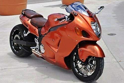 Lorababer Orange Motorcycle Complete ABS Plastic Injection Fairing Panel Kit Bodywork for Suzuki 99-07 GSXR GSX-R 1300 Hayabusa 1999-2007 2000 2001 2002 2003 2004 2005 2006