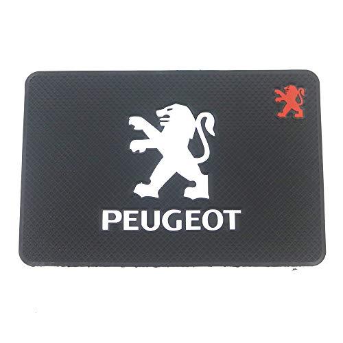 MJZYP Logotipo del automóvil Anti resbalón Mat Porta Titular de teléfono Autilla Antideslizante Sin Deslizamiento Pad para Peugeot 107 207 307 407 308 607 508 3008 (Color : Black)