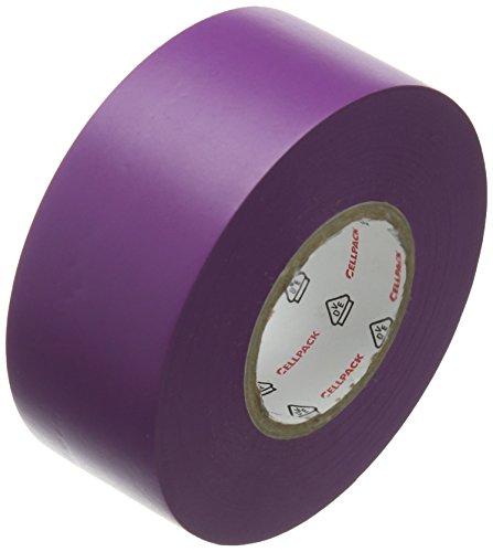 Cellpack Nr. 128PVC Isolierband 25m x 30mm x 0,15mm (Länge x Breite x Dicke)–Violett