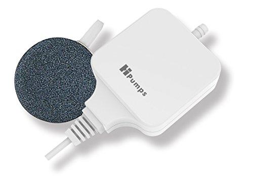 Hpumps Nano Aquarienluftpumpe weiß eckig 18l/h mit hochmoderner Piezotechnologie, Eckig
