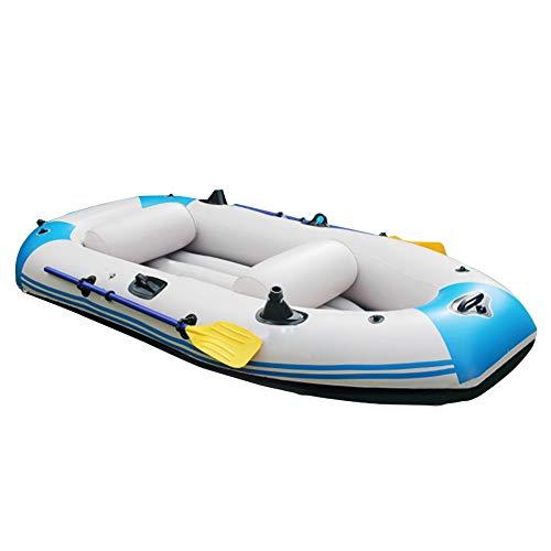 3-Person Barca d'assalto Canotto Gonfiabile Professione Rafting all'aperto pesca Scialuppa di salvataggio Gommone Marine Addensare Materiale in PVC con Oars Corda di Trazione Cuscino e Pompa d'aria