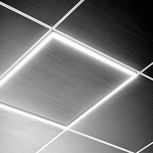 Panel LED de Marco Luminoso 60x60cm 40W 3600lm LIFUD Non Flicker Falsos Techos Empotrar Superficie Oficinas Tienda (K4000)