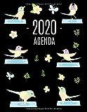 Yoga de Aves Agenda 2020: Planificador Mensual que Inspira Productividad | Con Calendario Mensual...