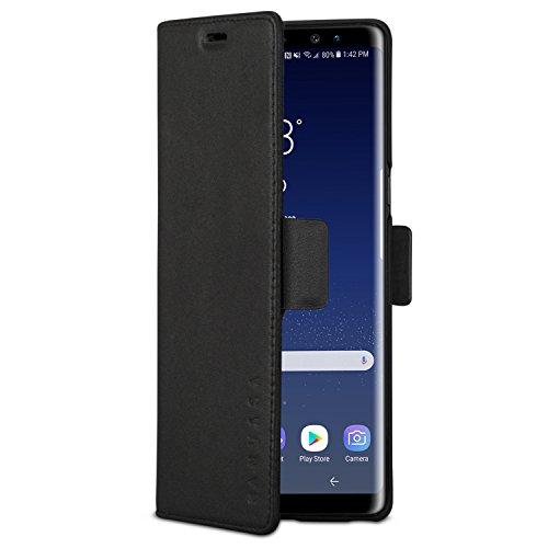 KANVASA Funda Galaxy Note 9 Tipo Libro Piel Negro Case Cover