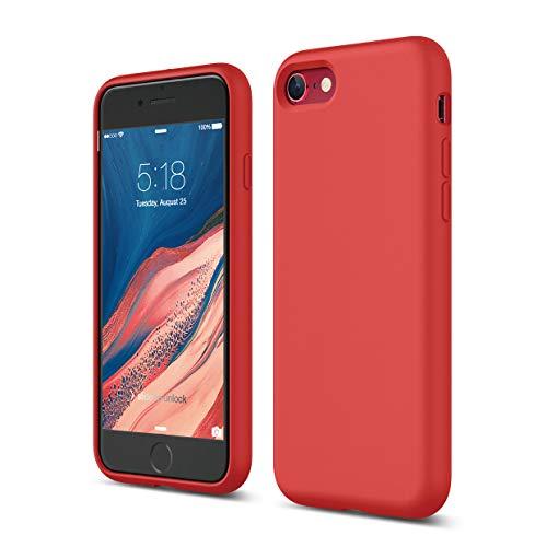 Elago Silicone Liquido Custodia Cover Compatibile con iPhone SE 2020, Compatibile con iPhone 8 e Compatibile con iPhone 7 – Protezione Full Body con Struttura a Tre Strati (Rosso)
